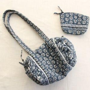 90s Vera Bradley Indigo Purse Bag Set